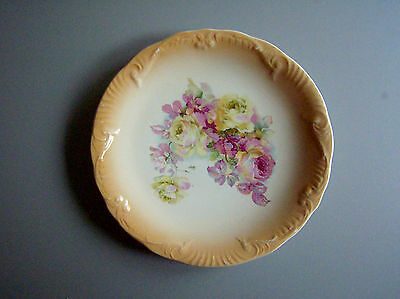 """Antique 1927  E. P. Co.  EMPIRE WARE Eng. 9"""" Wall/ Decor Peach PLATE with Roses"""
