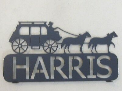 Custom Stagecoach  Mailbox Topper (Your Name) Textured Black Powder Coat