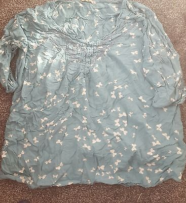 2x tops. Ladies tu tunic 20/22. butterfly teal. plus size clothing job lot.