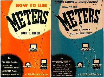 How to Use Meters - 1st & 2nd Editions - John F. Rider - Books on CD