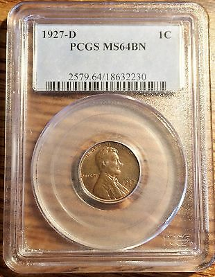 1927-D Lincoln Cent PCGS MS64BN