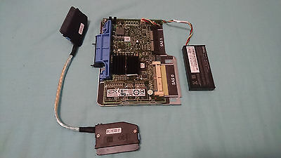 Dell Np007 E2K-Ucp-61-(B) Sas Raid Controller Card With Cradle Battery & Cable