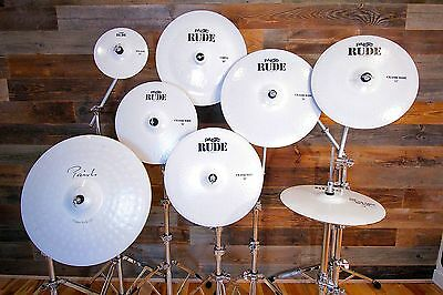 Paiste Rude / Signature White Colour Sound 9 Piece Cymbal Set (Pre-Loved)