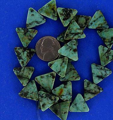 16 inch strand, AFRICAN TURQUOISE jasper, 18mm Triangles, very nice!