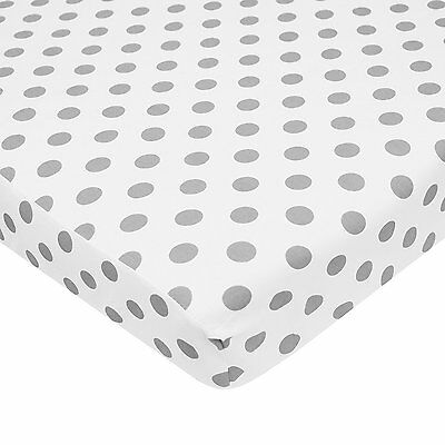 American Baby Company 100% Cotton Percale Fitted Portable/Mini Crib Sheet, White