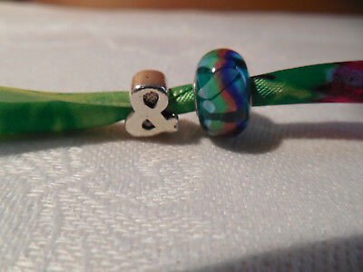 """NEW Sterling Silver 925 Unique Ampersand """" & """" AND """" Symbol Charm Bead"""