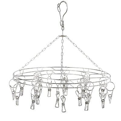 Makhry Stainless Steel/Metal 20 Clips Drying Hanger Rack for Hanging Clothes