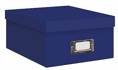 """PHOTO STORAGE BOXES HOLDS OVER 1100 PHOTOS UP TO 4""""X6"""" Bright Blue"""