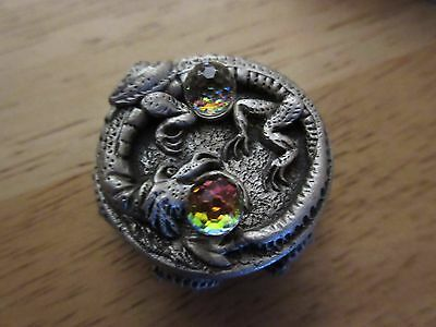 Dragon Jewellery Trinket Box With Necklace,ear Rings,and Brooch (Unused)
