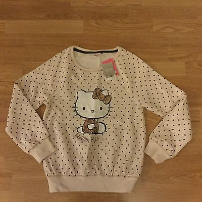 Next Girls Hello Kitty Jumper Top Age 12 Years Brand New With Tags