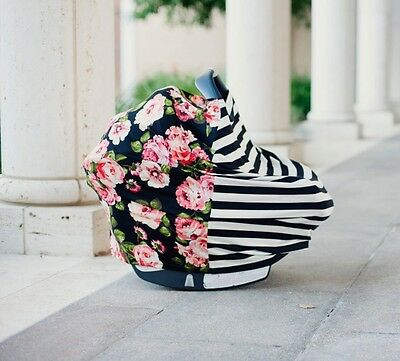 Covered Goods Nursing Cover Floral Stripes Shipping Cart Cover