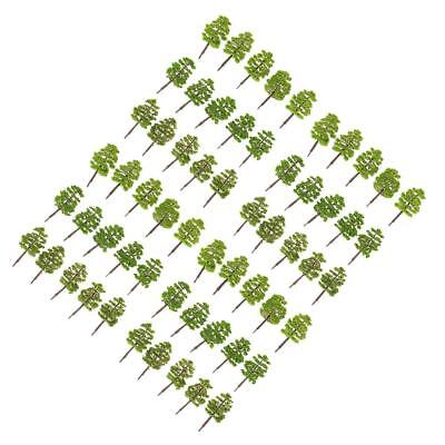 Pack of 60pcs Model Trees 1:100 HO OO Scale Building Park Landscape Scenery