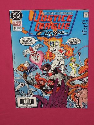 Justice League Europe #19 DC Comics 1990 - Flash, Power Girl, 1st Mitch Wacky