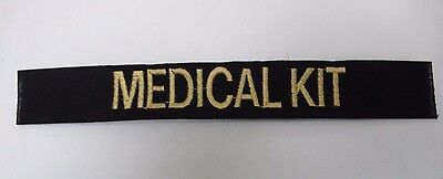 CUSTOM BLACK EMBROIDERED NAME TAPE VARIOUS COLORS LETTERS Velcro® Option