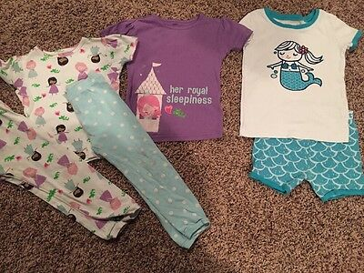 Old Navy Just One You Pajama Lot Toddler Girl Size 3T 3 Mermaid Princess