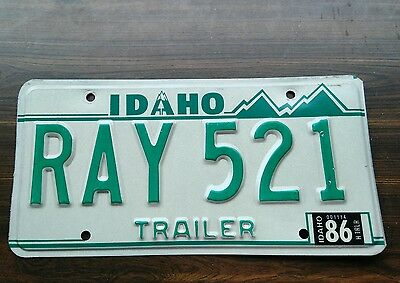 License plate for Ray / 1986 trailer plate from Idaho