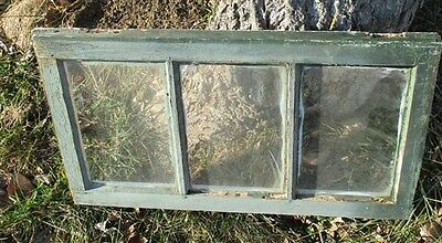 Old Wood Transom Window Glass Pane Vintage Architectural Salvage 28.25x16.25 a10