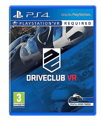 Driveclub VR PSVR PS4 Game Brand New Boxed & Sealed