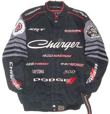 SIZE SMALL JH DESIGN DODGE CHARGER Racing EMBROIDERED Cotton Jacket NEW  S