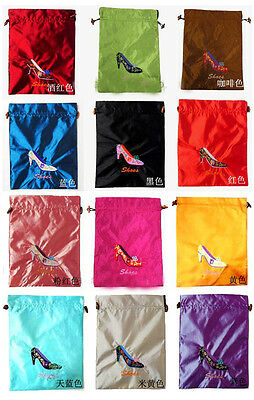 Lots5pcs Chinese Classic Silk Embroiderd Shoe Bag Cloth Pouch Gift Bag
