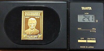 The empire collection gold plated silver stamp .925 - Southern Rhodesia 24.1 g