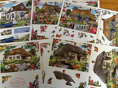 5 DIFFERENT Country Cottages A4 Decoupage Sheets from artist Howard Robinson