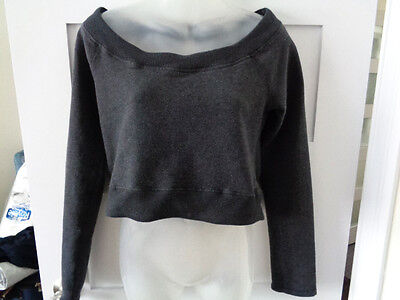 Womans Lululemon Good Karma Cropped Top Pullover Cotton Blend Size 6