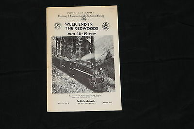 1949 Western Railroad Pamplet.  California Railroad News, Pictures, Logging