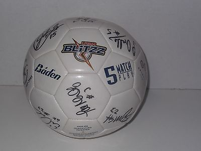Utah Blitzz autographed Mens Soccer Ball Signed by 2003 Team