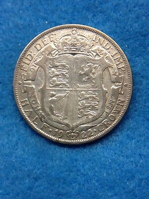 1922 - Silver Coin - Half Crown - Great Britain - King George V - Filler -