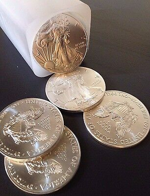2016 Silver 1 oz American Eagle 999 Purity-1 Tube(20 Coins)