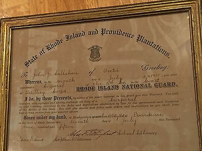 WWI US Rhode Island National Guard Discharge Corporal 1915 , Costal Artillery