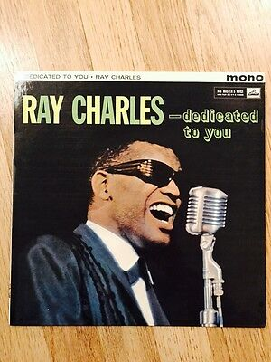 Ray Charles - Dedicated To You Record Rare Excellent Condition