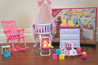 NEW GLORIA HOUSE FURNITURE BABY HOME NURSERY Playset (9929)