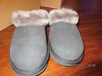 Ugg Size 6 Cluggette Women's Moccasin Slippers #1010473 Black New
