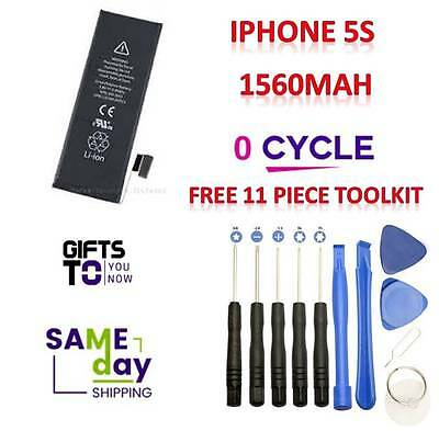 New iphone 5s Replacement Battery 1560mAh Genuine 0 Cycle FREE 11 TOOLS