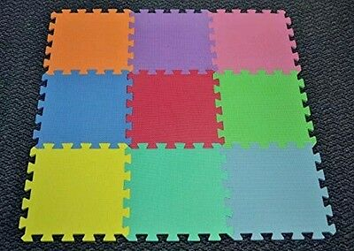 NEW Matney Foam Puzzle Piece Play Mat - KIDS Play mat rug, multi colored 9 tiles
