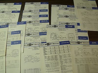 1968 Chevrolet truck specification sheets GM Canada Lot o 24 English 68 Canadian
