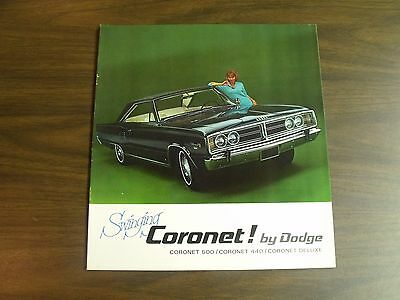 1966 Dodge Coronet brochure 500 440 DeLuxe 66 colour catalogue Chrysler Canada