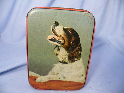 Vintage Spaniel Setter Dog Advertising Tin Edward Sharp & Sons England