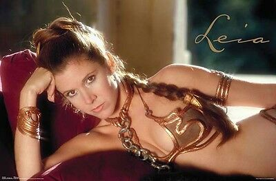 Star Wars Classic - Princess Leia Slave Outfit POSTER 57x86cm NEW Carrie Fisher