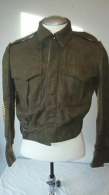 Post WWII WW2 Canadian British Greek Made Battledress Blouse Trousers