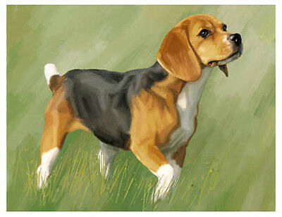 artav Beagle 06 Art Print Dog Puppy Painting