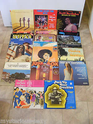 Bulk Lot of 20 Vinyl LP RECORDS ~ Various Music Artists, Bands and Choirs.