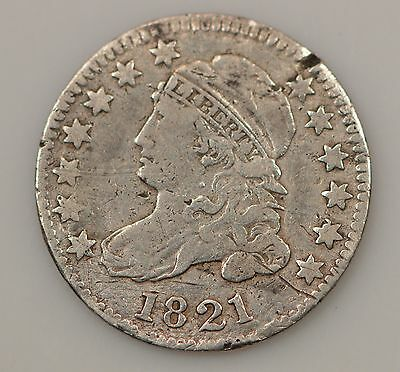 1821 Capped Bust *Large Date* Silver Dime *G92