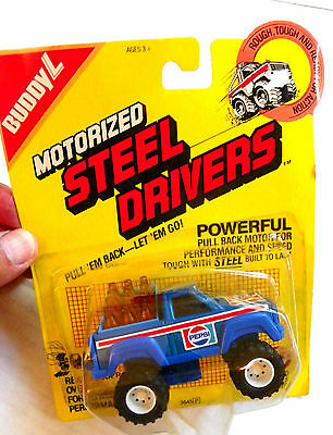 "1987 Buddy-L ""pepsi-Cola"" Motorized Steel Drivers Delivery Pick-Up Truck #3645P"