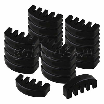 20 x Black Rubber 4/4 Size Violin 5 Prong Practice Mute for Volume Control