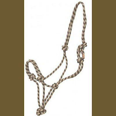 Rope Halter!  Horse Size Beige and Brown NEW!