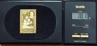 The empire collection gold plated silver stamp .925 - Ceylon 18.1 grams