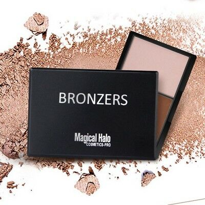 Magical Halo Bronzer Powder Palette Contour Highlighter Shading Makeup 2 Colors